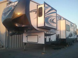 Cyclone 3 42' Fifth Wheel Toy Hauler for rent - RV rentals Phoenix AZ - Going Places RV Rentals