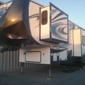 Cyclone 3 42' Fifth Wheel Toy Hauler for rent - RV rentals Phoenix AZ - Going Places RV Rentals