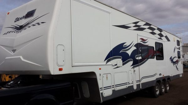 Gear Box 39' Fifth Wheel Toy Hauler for rent - RV rentals Phoenix AZ - Going Places RV Rentals