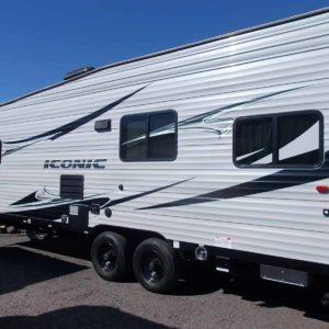 Iconic 28' Toy Hauler for rent - RV rentals Phoenix AZ - Going Places RV Rentals