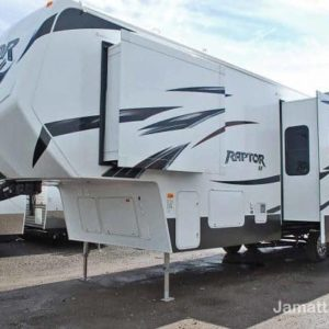 Raptor 35' Fifth Wheel Toy Hauler for rent - RV rentals Phoenix AZ - Going Places RV