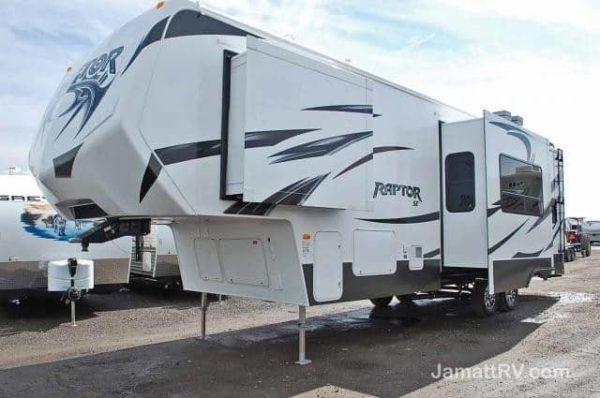 Raptor 35' Fifth Wheel Toy Hauler for rent - RV rentals Phoenix AZ - Going Places RV