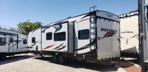 Shockwave Toy Hauler for rent Phoenix - Going Places RV Rentals Phoenix