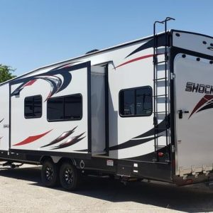 Shockwave Toy Hauler for rent Phoenix - Going Places RV Rentals Phoenix