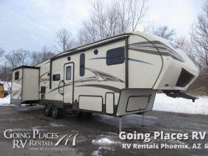 2016 Prime Time Crusader 34 Toy Hauler for rent Phoenix - Going Places RV Rentals Phoenix